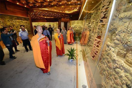 5吨沉香打造佛教艺术馆亮相中国最高佛塔